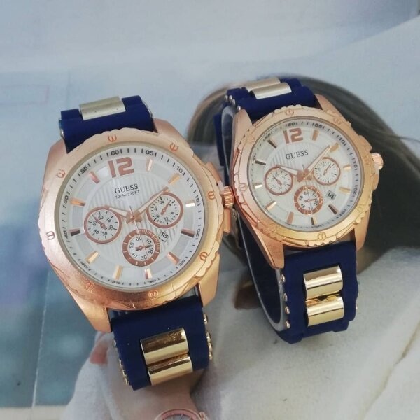 GUESS WATCH FOR COUPLES STAINLESS STEAL AND SILICON STRAP Malaysia