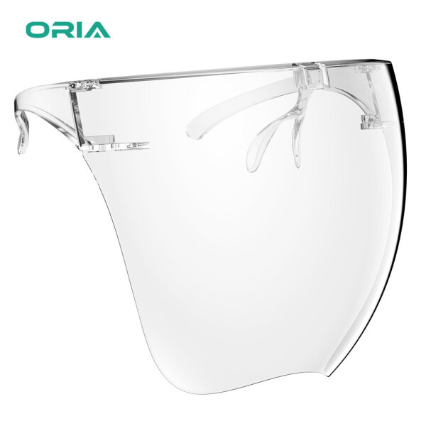 ORIA Reusable Face Cover Glasses, Full Face Protective Glass For Eyes and Face, Fashion Comfortable Head Cover for Cycling Camping Travel for Kids Adult Men Women