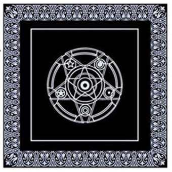 ผู้ขายที่ดีที่สุดเกมสิ่งทอคณะกรรมการ TAROT ผ้าคลุมโต๊ะการ์ด Pentacle ผ้าคลุมทำนายไพ่ทาโร่-