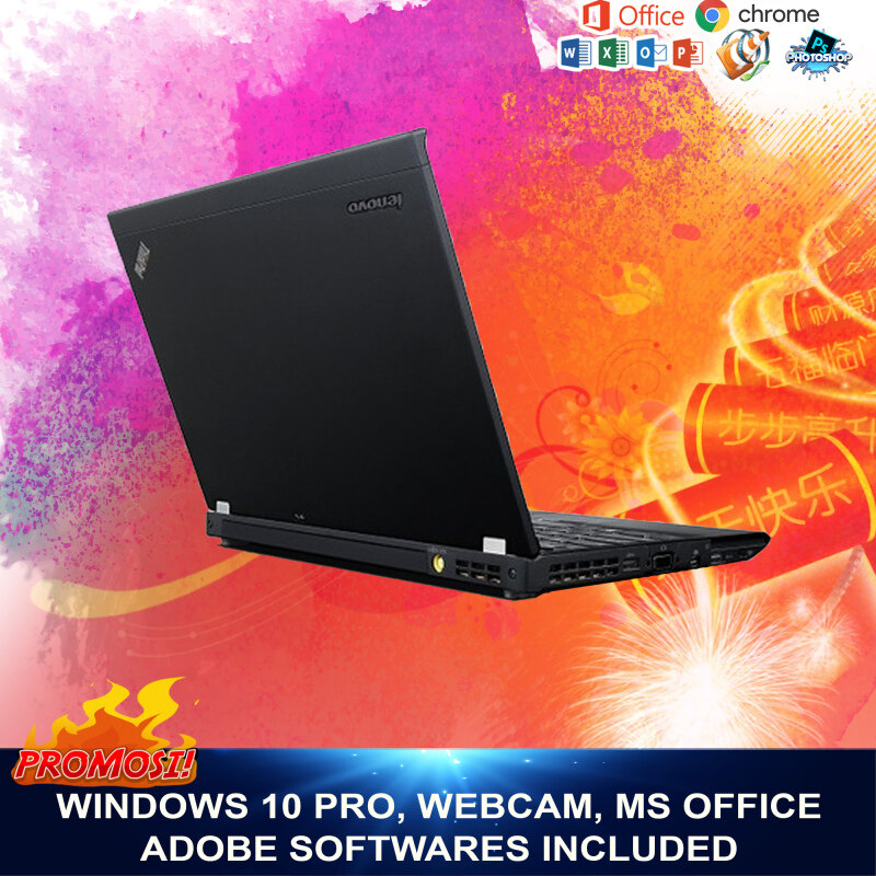 Lenovo X230 i5 3rd Gen Laptop, 4GB RAM, 128SSD, WebCam, Win 10 Pro, 3 Months Warranty , Free Gifts Malaysia