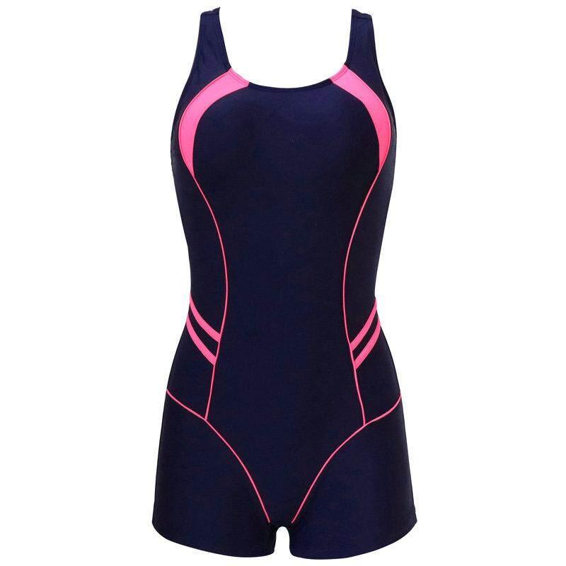 cf1575f024 Riseado New One Piece Swimsuits 2019 Patchwork Swimwear Women Boyshorts  Racer Back Bathing Suits Swimming Suit
