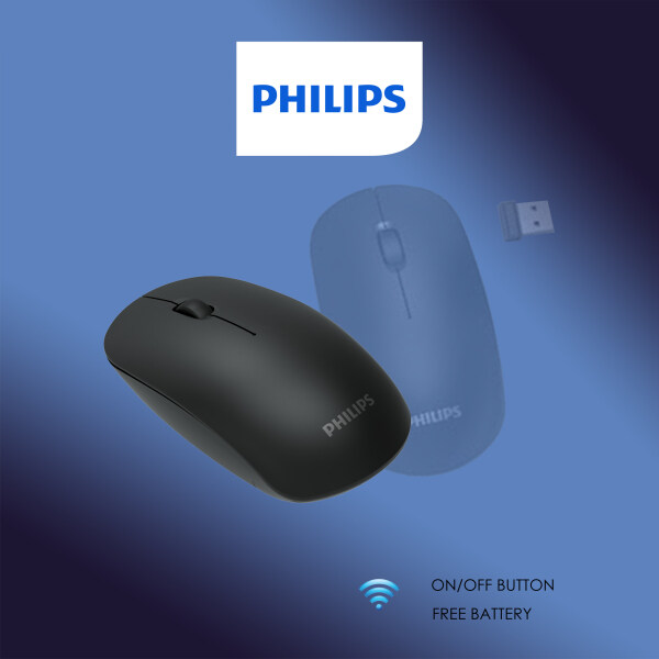 Philips Notebook & PC 3's button Optical Sensor Wireless USB Mouse with On/Off Button & Portable Optimized Nano Receiver (Model- M315 / SPK7315) Malaysia