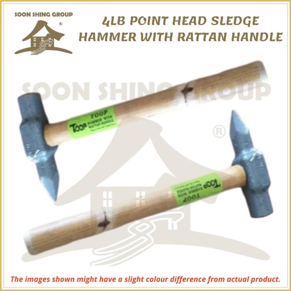 4LB POINT HEAD SLEDGE HAMMER WITH RATTAN HANDLE