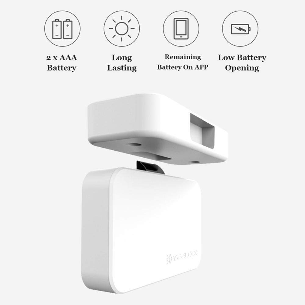 SeaLavender Xiaomiyoupin YEELOCK Smart Drawer Cabinet Lock Keyless Bluetooth APP Unlock Anti-Theft Child Safety File Security
