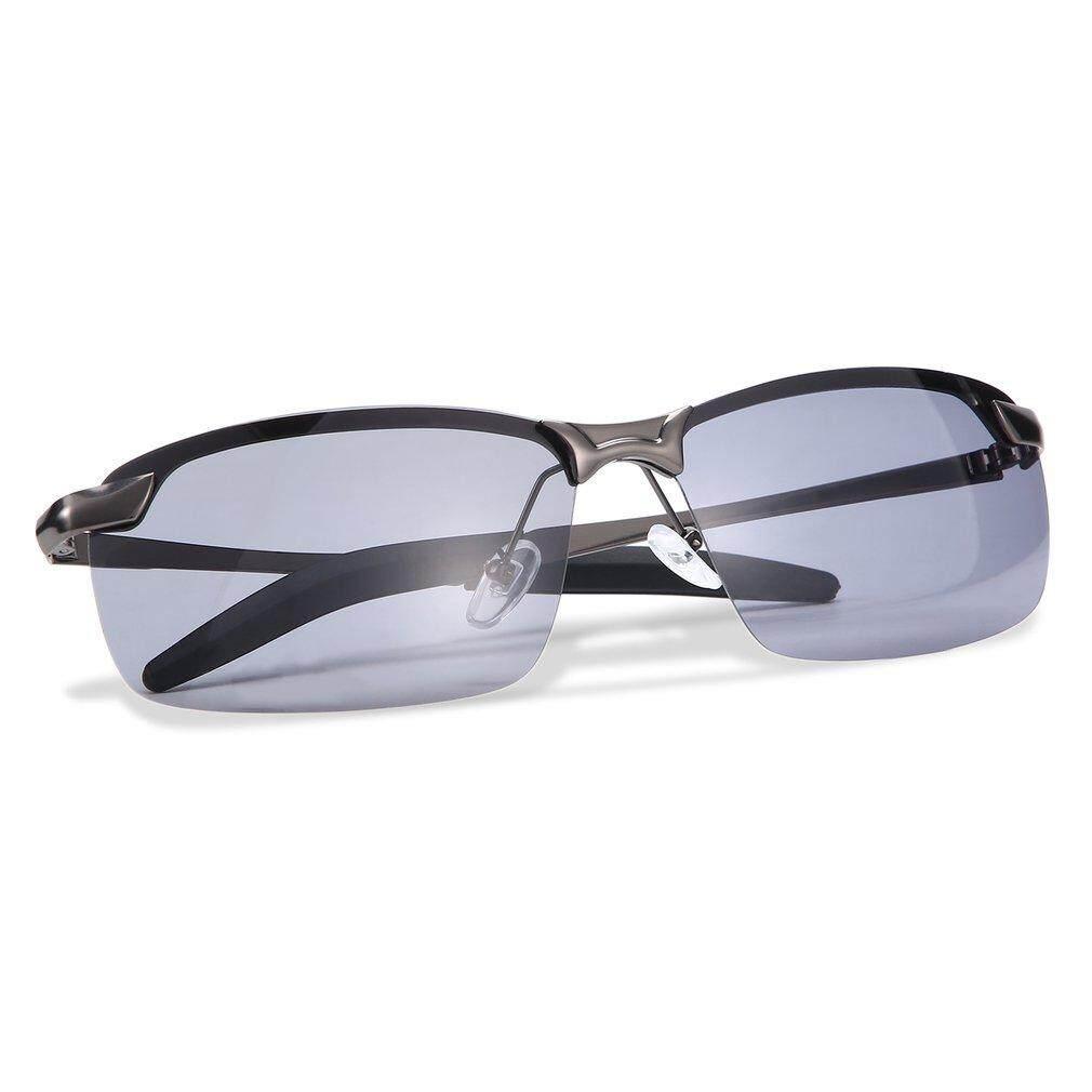 Oh Pria Hd Kacamata Hitam Terpolarisasi Pakaian Olahraga Luar Ruangan Mengemudi Anti-Glare Grey &