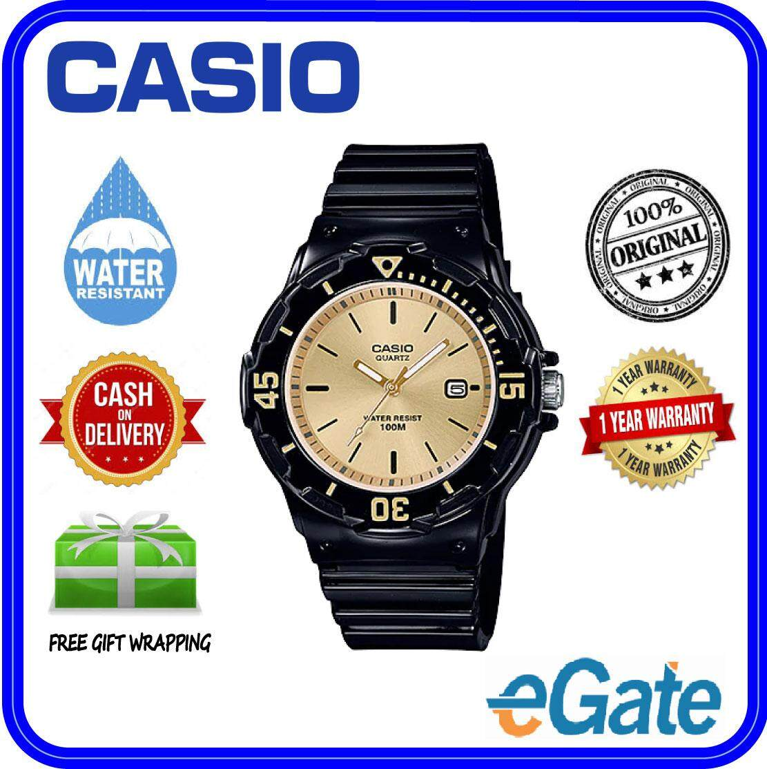 (2 YEARS WARRANTY) Casio LRW-200H-9EV Analog Kids & Ladies Date Functioning Classic Black Resin Band Original Casual Watch (LRW-200H) Malaysia
