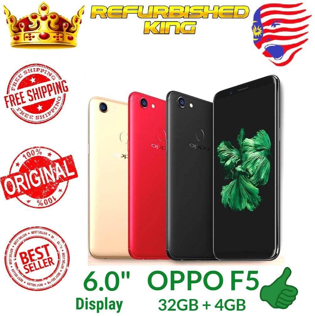 (Refurbished Like New) Original Oppo F5 32GB 64GB + 4GB RAM 4G LTE Dual Sim Full Set + FREE Screen Protector + FREE RM50 Voucher