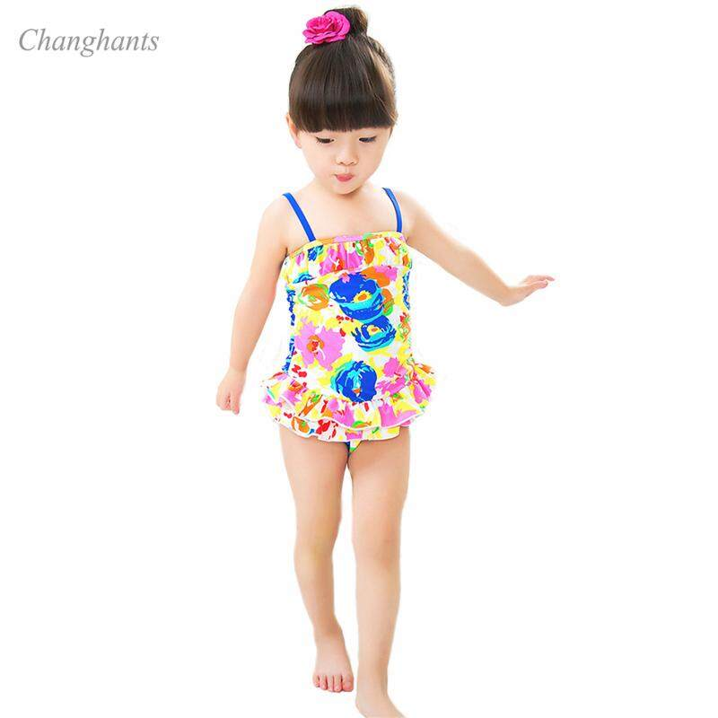 Summer Lace Kids Baby Girls Bikini Suit Sunscreen Quick-drying Swimsuit Sling Swan Swimwear Bathing One-piece Swimming Clothes High Quality Materials Swimwear