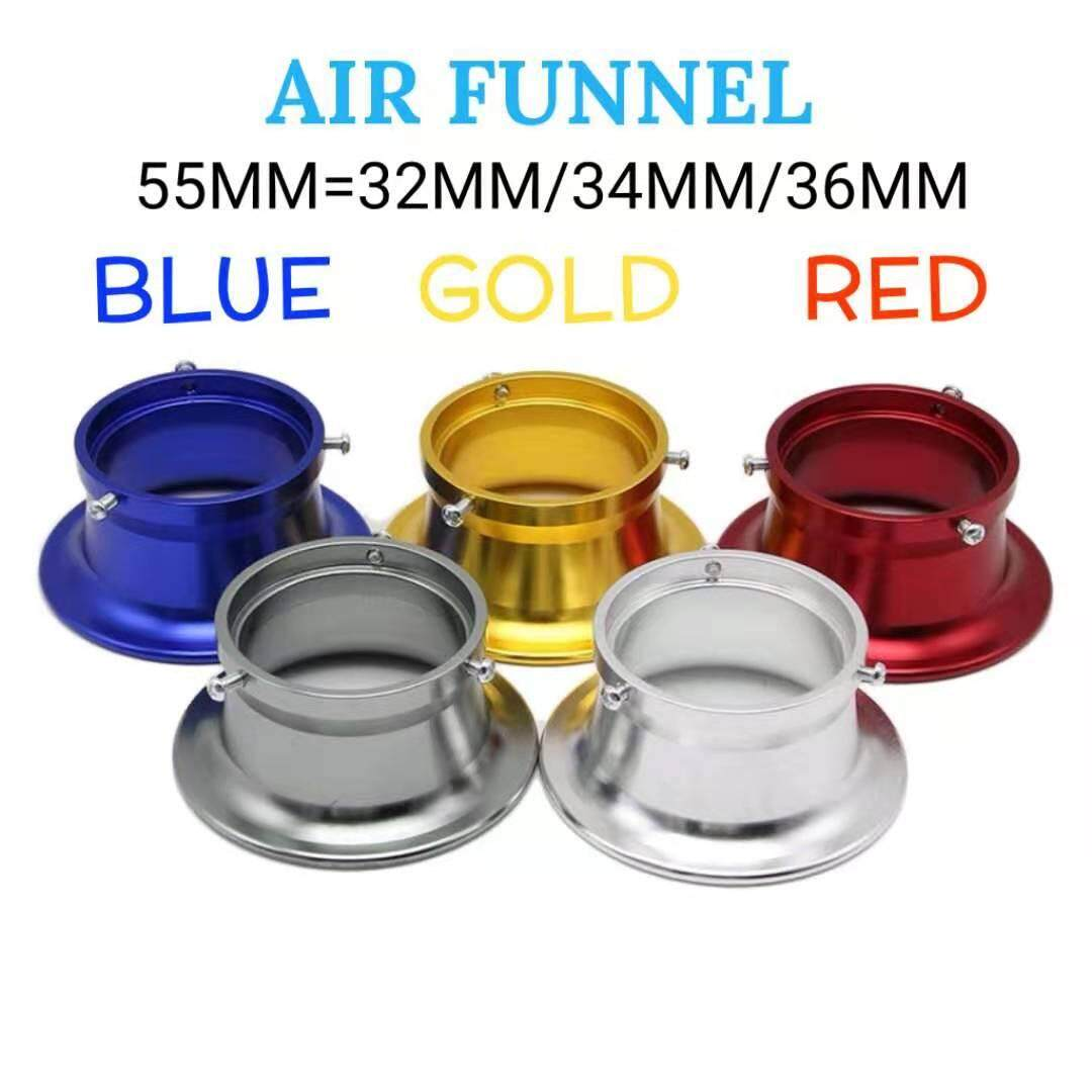 RACING AIR FUNNEL 55MM=32MM/34MM/35MM Y15ZR RS150 VF3i RFS150 WAVE125 EX5 LC135 4SPPED LC135 5SPEED SRL115 ZR SRL110 ZR DOTOMOMO