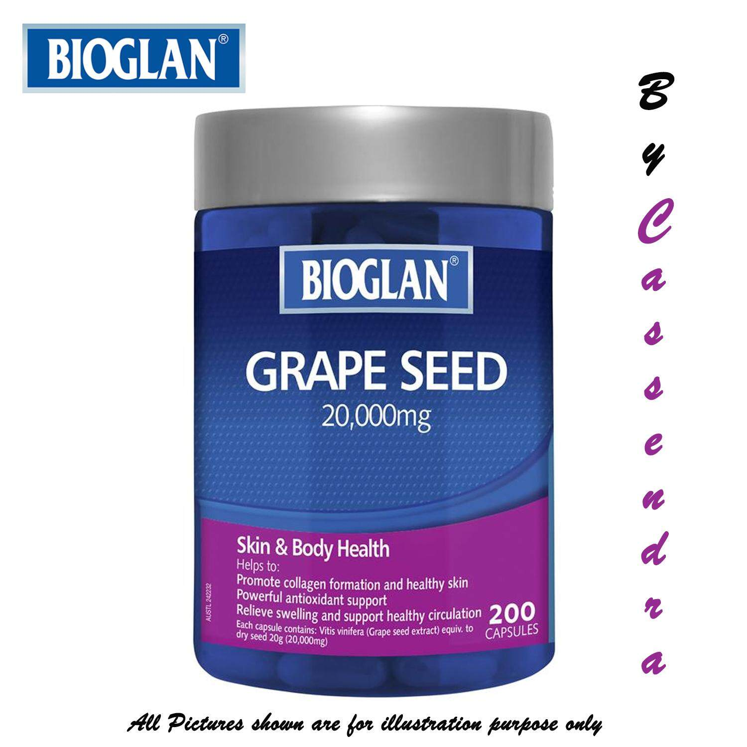 ... Fish Oil 2000mg 200 Capsules. Omega Xl 60 Soft Gel Capsules price in Singapore Source · 100 from AUS BIOGLAN Super Strength Grape Seed 20000mg 200 Caps
