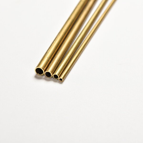 Aolie Brass Tube Pipe Tubing Round Inner 2mm 3mm 4mm 5mm Long 300mm Wall 0.5mm