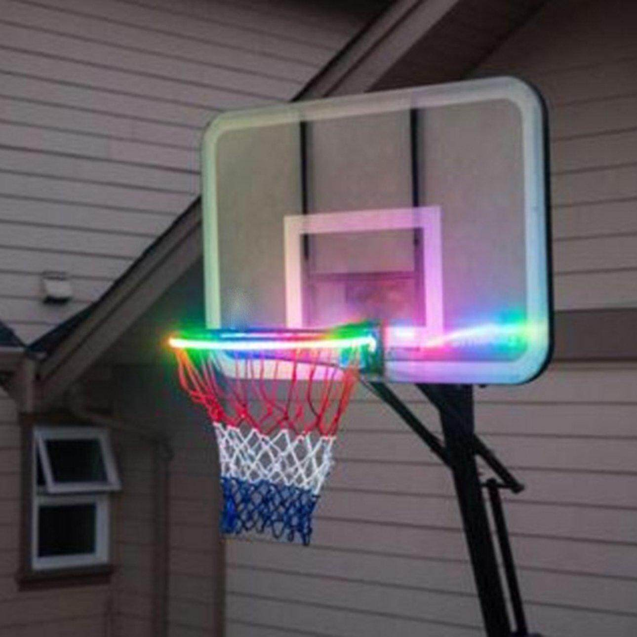 Hot Sales Solar basket hoop LED to play on the basketball edge illuminated at night