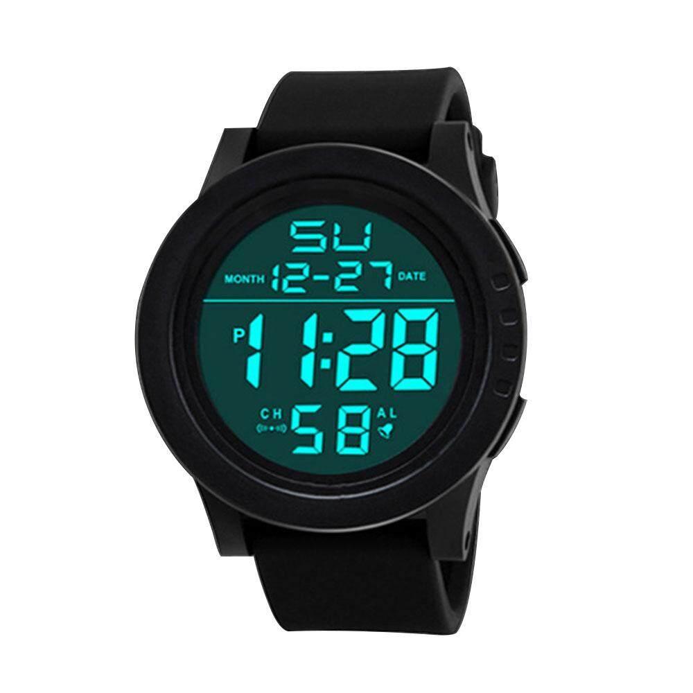 Led Jam Digital Tali Alarm Kuarsa Dial Olahraga Jam Tangan By Wishmall.