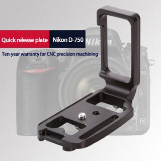 Thích Hợp Cho Nikon D750 Bảng Bấm Dọc Hoàn Toàn Bằng Kim Loại, Chân Máy Tấm Tháo Nhanh Dọc Bằng Kim Loại Tháo Nhanh Phụ Kiện Xoay Nghiêng Máy Ảnh Accessories Ready Stock thumbnail