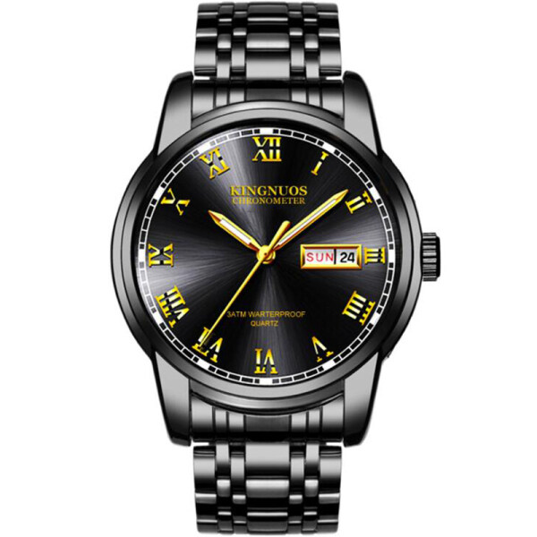 MISTLETOE Jam Tangan Lelaki Original Stainless Steel Men Watch Business Luxury Gold Black Waterproof Watch for Men Malaysia