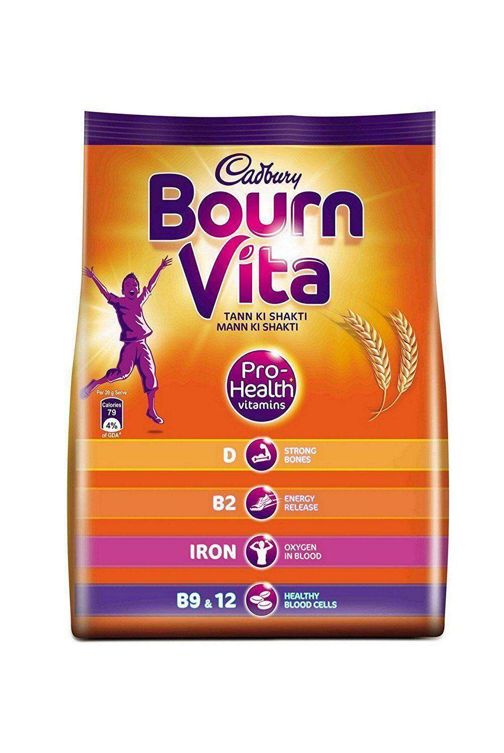Bournvita Refill Delicious Chocolate Health Drink - 500 G Free Shipping By Mitashree Store.