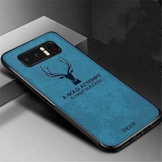 Zeallion Cho [Samsung Galaxy Note 8 Note 9] Ốp Lưng Họa Tiết Nai Sừng Tấm Dệt Vải Bạt Mềm Hình Hươu Cổ Điển thumbnail