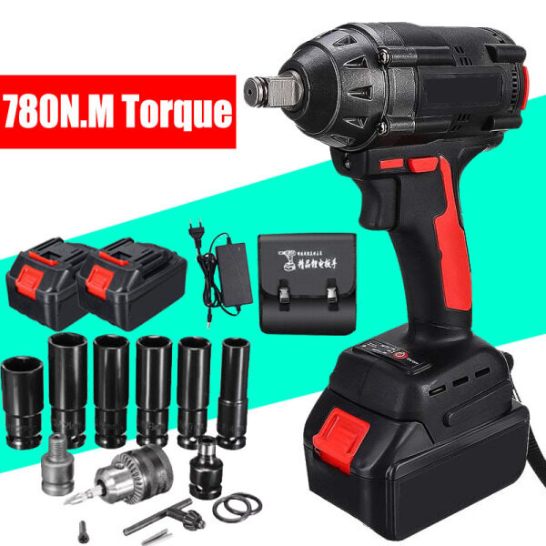 Impact Wrench Electric Wrench Drill Screwdriver Free Wrench Socket Set And Accessories Include 1 or 2 Battery And Charger