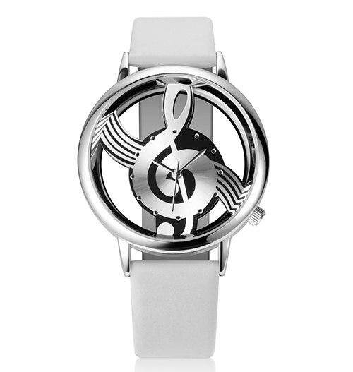 GEEKTHINK Unique Classic Women Quartz Watch Ladies Hollow Musical Note leather strap WristWatch fashion Gfit Casual Clock female Malaysia