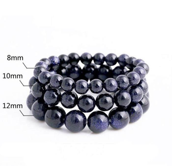 Dan Mode Untuk Wanita Jade Stone Bead Gelang Alam Nyata Berbintang Pasir Biru Batu 8-16 Mm Manik Pesona Perhiasan By Very-Fashion.