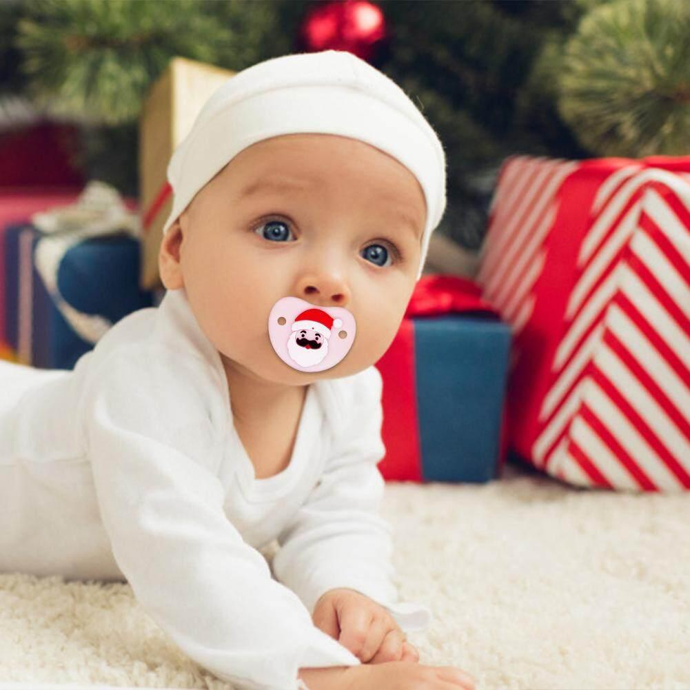 น่ารักคริสต์มาส Pacifier Santa ผิวนุ่มจุกนมซิลิโคนสำหรับทารก