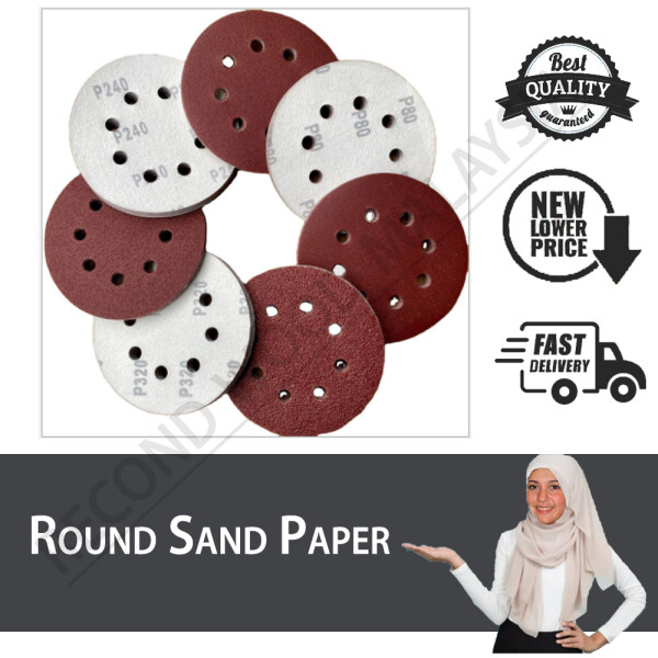 [ValueBuy] Velcro Sand Paper   Round Sand Paper   Kertas Pasir Bulat   4,5 Inch  P40-P1000