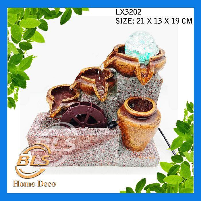 WATER FOUNTAIN LX3202 SMALL SIZE FOUNTAIN FENG SHUI WATER FEATURE HOME DECORATION