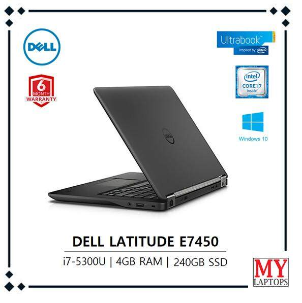 Dell Latitude E7450 / i7-5th GEN / 4GB RAM DDR3  / 240GB SDD -ULTRABOOK [REFURBISHED] 6 MONTHS WARRANTY Malaysia