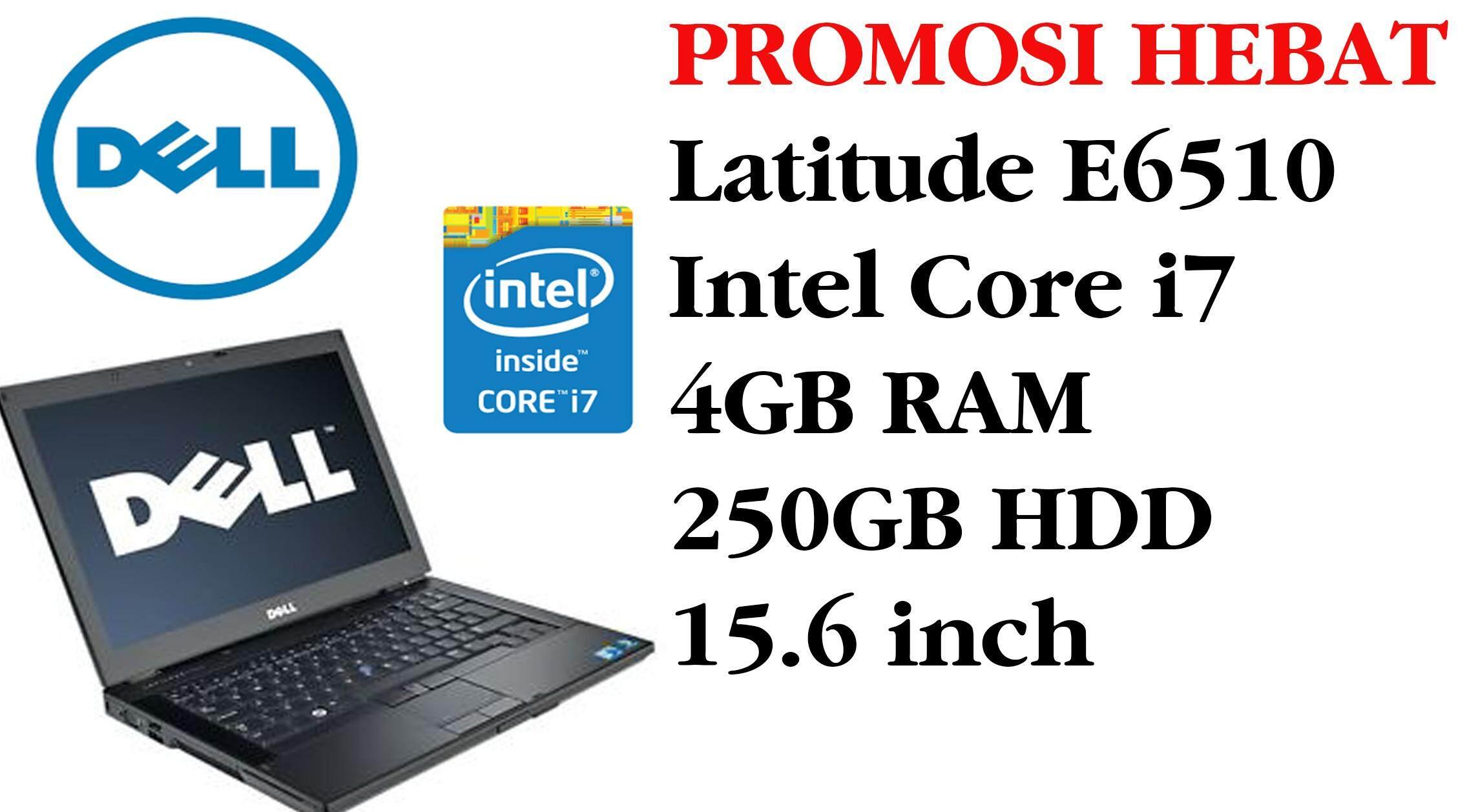 STUDENTS OFFER DELL E6510 intel core i7 4GB RAM 250 GB HDD 15.6 INCH Malaysia