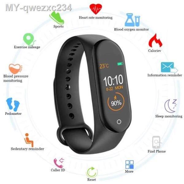 New M4 Smart Band Fitness Tracker Smart Watch Sport Smart Bracelet Heart Rate Blood Pressure Monitor Health Wristband Malaysia