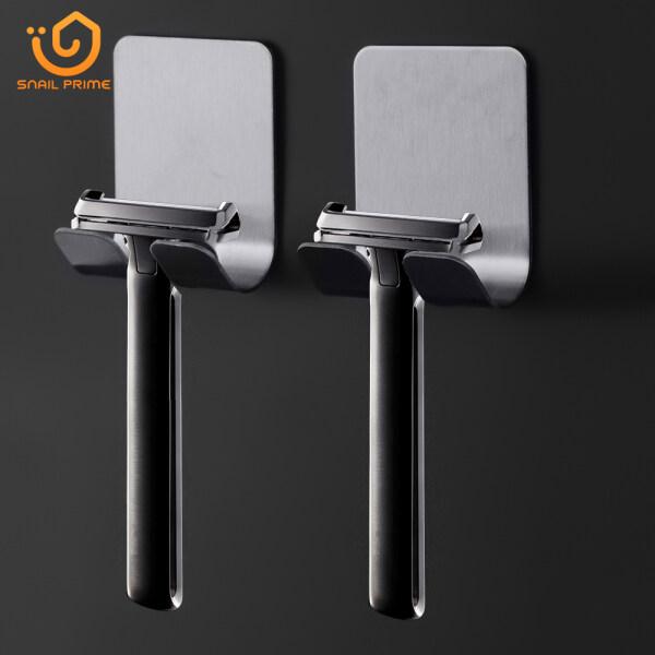 SNAIL PRIME 1 pcs razor stainless steel holder for mens razor holder bathroom razor holder wall adhesive storage hook kitchen hanger
