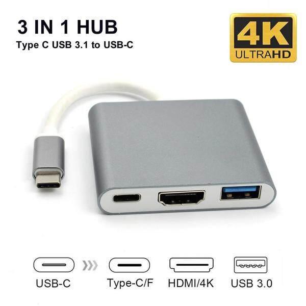 Bảng giá ☼Bộ Chuyển Đổi Hub 3 Trong 1 USB 3.1 Type-C Sang 4K UHD HDMI USB-C Cho Macbook Phong Vũ