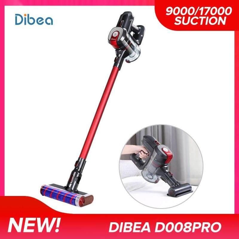 Original Dibea D008Pro 2-in-1 Lightweight Cordless Vacuum Cleaner Handheld Wireless Vacuum Cleaner with mites suction head (Red) Singapore