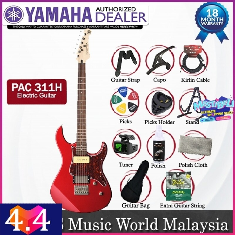 Yamaha PAC 311H Alder Humbucker Single Coil Alnico Electric Guitar Red Metallic (PAC311H) Malaysia