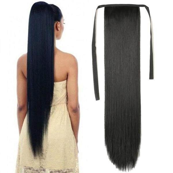Tóc giả nữ ponytail tóc dài thẳng loại băng vô hình liền mạch mở rộng tóc giả cao cấp