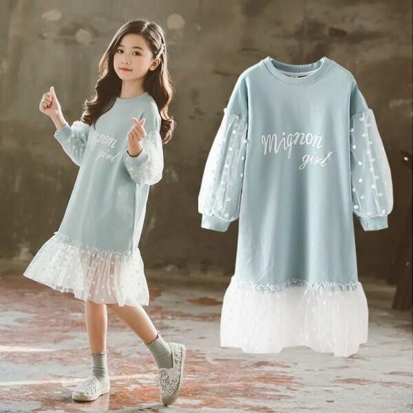 Giá bán SixDaily Đầm Dài Tay Mùa Thu Cho Bé Gái Đầm Công Chúa Áo Len Dài Tay Đầm Công Chúa 110-170 D0160