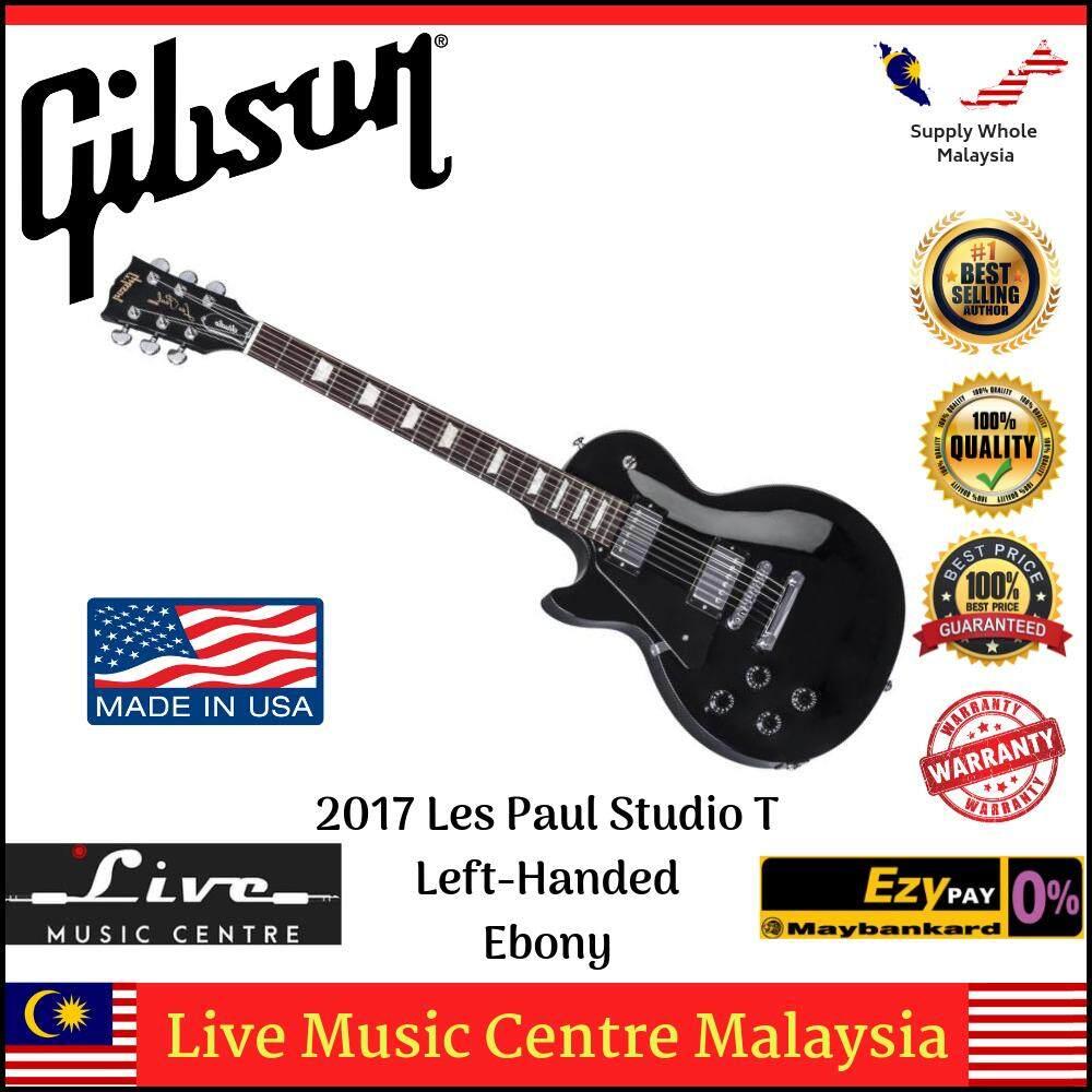 Gibson 2017 Les Paul Studio T Left-Handed Electric Guitar, Ebony