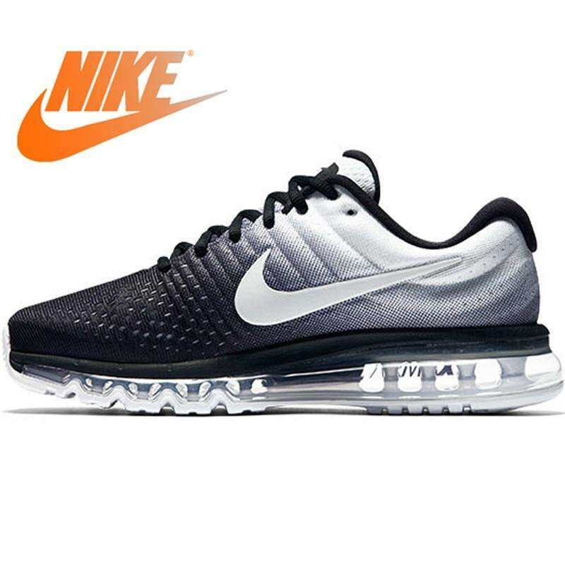 Nike_Air Max Breathable Men's Sports Sneakers Running Shoes 2017 New Arrival 849559 Black and white