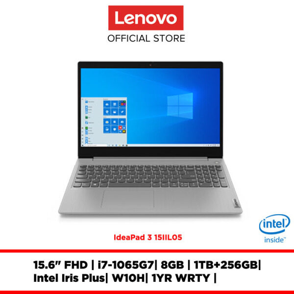 Lenovo Notebook Laptop IdeaPad 3 15IIL05 Platinum Grey 81WE001NMJ 15.6FHD/i7/8GB/integrated/W10H/1YRWRTY Malaysia