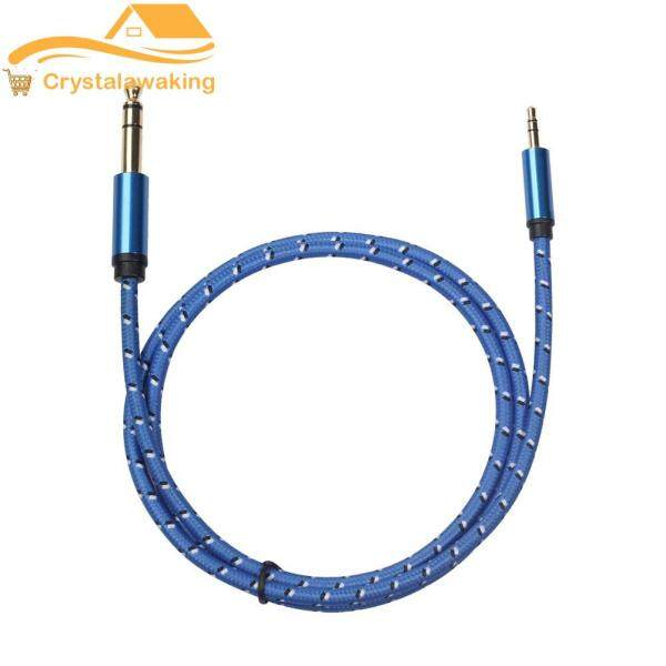3.5mm to 6.35mm TRS Male to Male Stereo Audio Cable for Amplifier Guitar Singapore