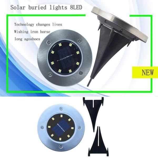 LED Năng Lượng Mặt Trời Thép Không Gỉ Dưới Lòng Đất Ánh Sáng Ngoài Trời Mới Bãi Cỏ Ánh Sáng Vườn Không Thấm Nước Năng Lượng Mặt Trời LED Ngầm Ánh Sáng
