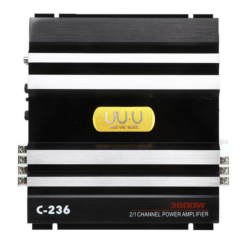 【New product promotion】3800W Car Amplifer Class AB Digital 2 Channel Black Aluminum Alloy High Power Car Stereo Audio Power Amplifier