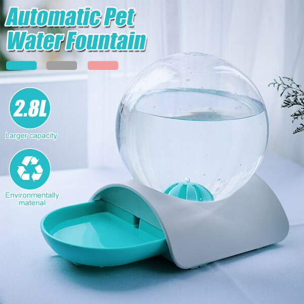 2.8L Automatic Pet Cat Dog Water Fountain Large Capacity Drinking Bowl Dish