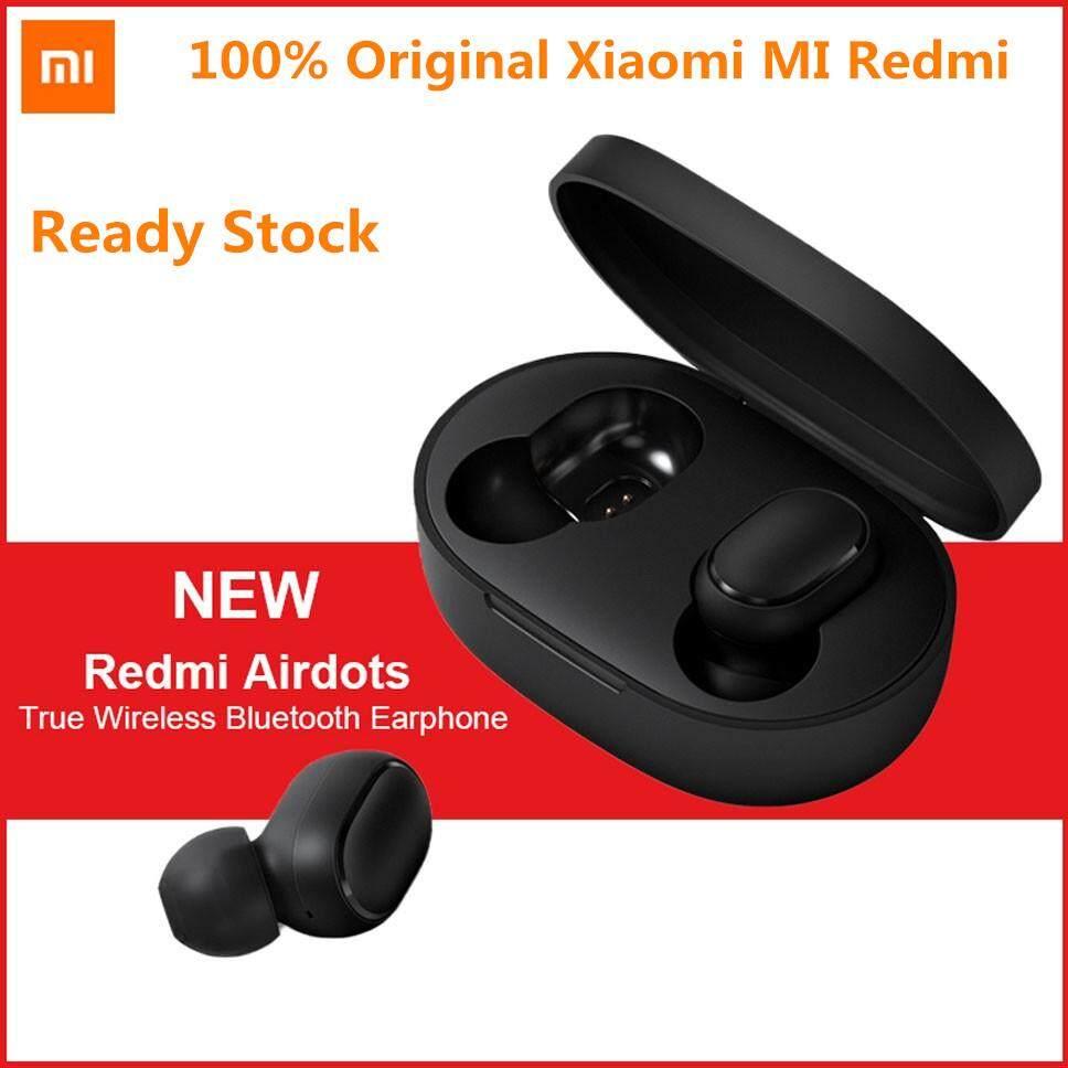In Stock 100% Original Xiaomi Mi Redmi Airdots Tws True Wireless Bluetooth Earphone Stereo Bluetooth 5.0 Mini Headset With Mic Earbuds By Sea Center.