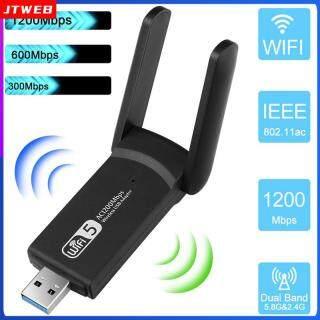 Bộ Chuyển Đổi Wifi Truyền Tải Siêu Nhanh, Bộ Chuyển Đổi Wifi Usb Không Dây Bộ Chuyển Đổi Wifi 802.11ac Dongle Băng Tần Kép 5Ghz 1200 Ghz Cho Pc 2.4 Mbps Máy Tính Dongle Usb 3.0 Wifi thumbnail
