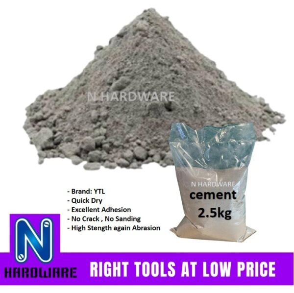 2.5KG Grey Cement / Simen Biasa for Concrete Wall Touch Up DIY