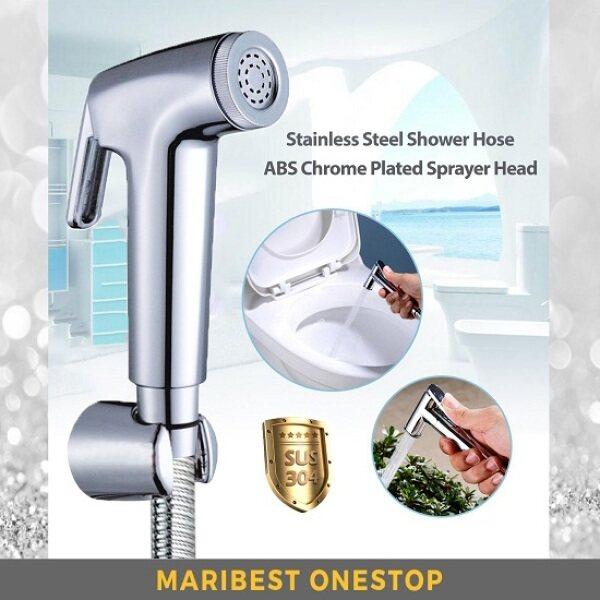 BRASSCO ABS Hand Bidet Sprayer & 304 Stainless Steel Shower Hose Set for Bathroom Toilet