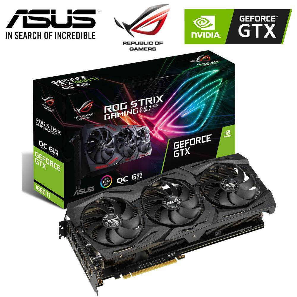 Asus ROG Strix GTX 1660TI OC 6GB GDDR6 Graphic Card (ROG-STRIX-GTX1660TI-O6G-GAMING)