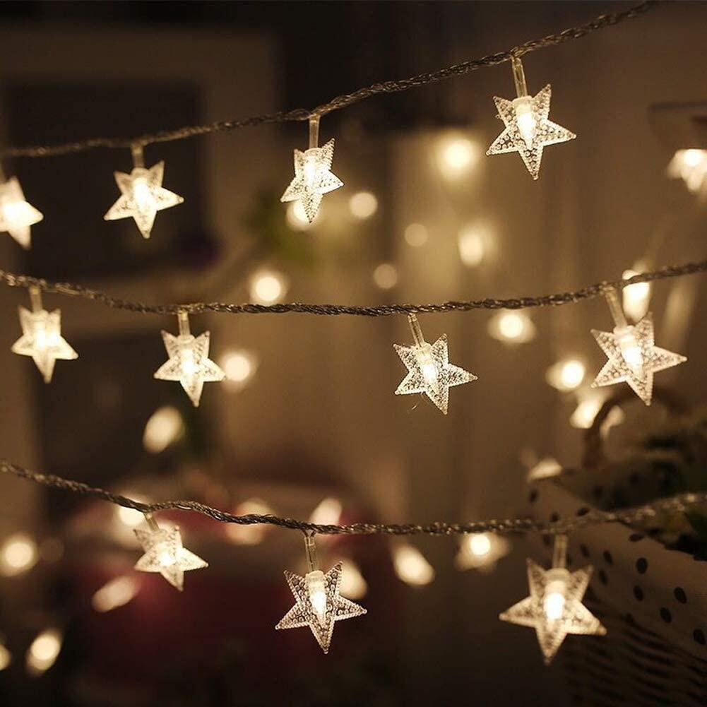 Star String Lights Battery Powered Star Fairy Lights Twinkle Lights For Indoor Outdoor Party Wedding Garden Christmas Decoration Lazada Ph