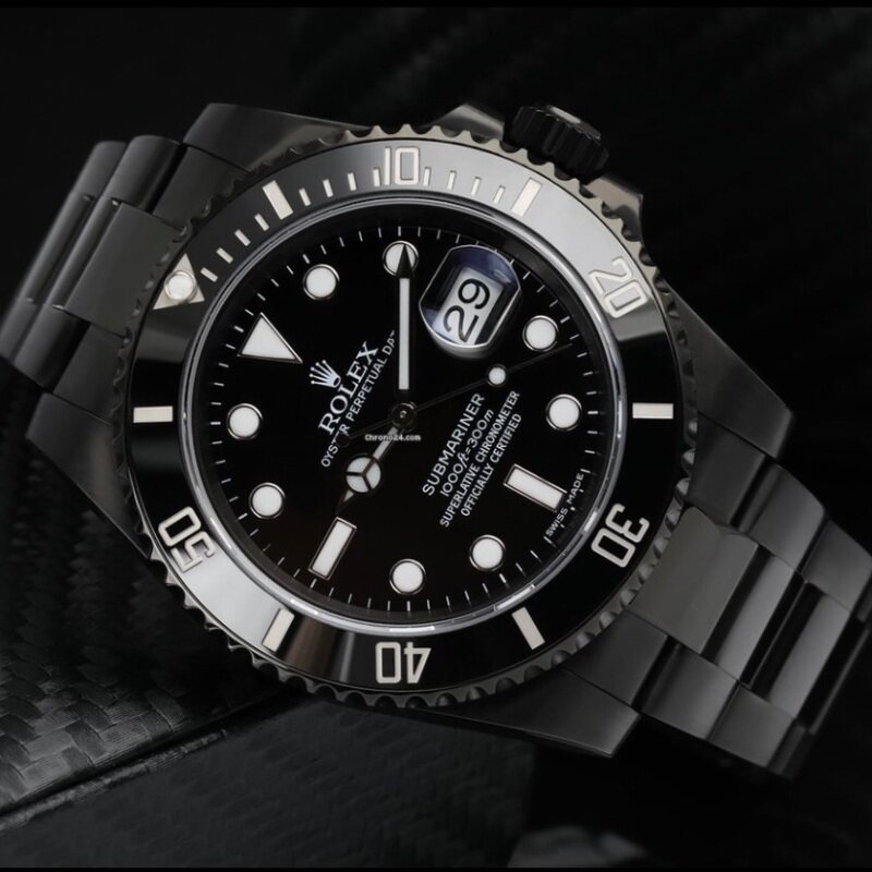 [HIGH QUALITY] PURE BLACK ROLEXS SUBMARINE AUTOMATIC WATCH FOR MAN Malaysia